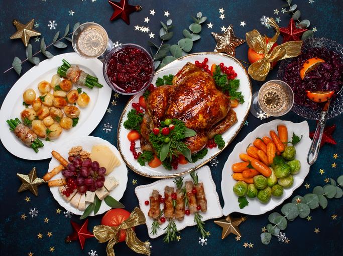 Preparing for Christmas Dinner